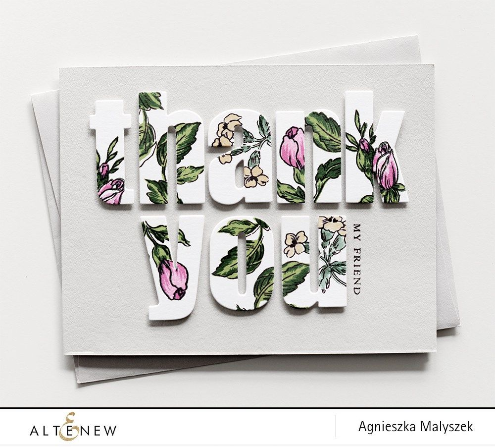 Beautiful Thank You Cards check out this beautiful thank you card with bold alphabets cut