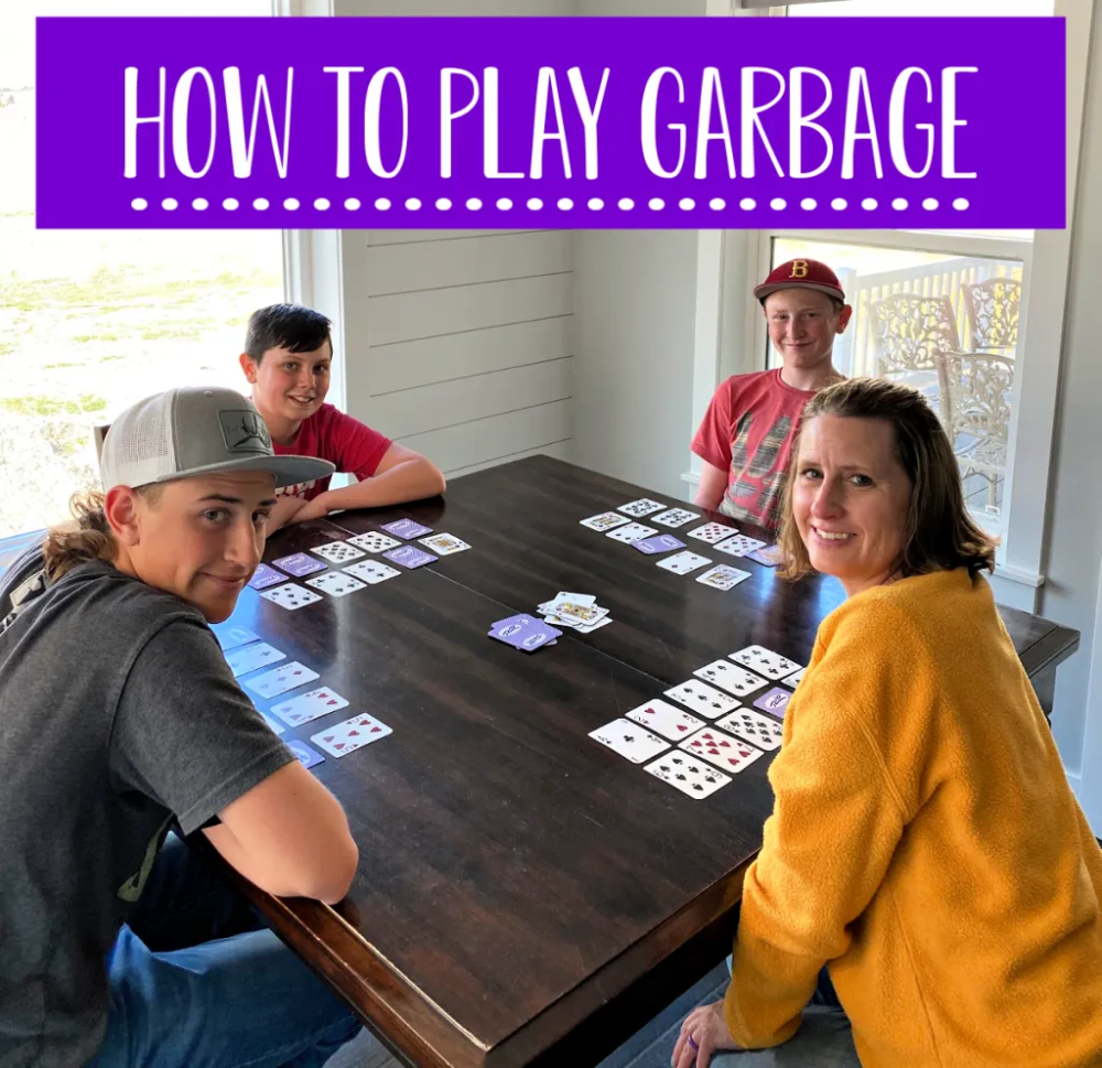 Learn how to play Garbage, a fun card game. Fun for the whole family without any hassle. Give the kiddos something fun to do. #funwithfamily #Garbagecardgame #cardgame #fungames