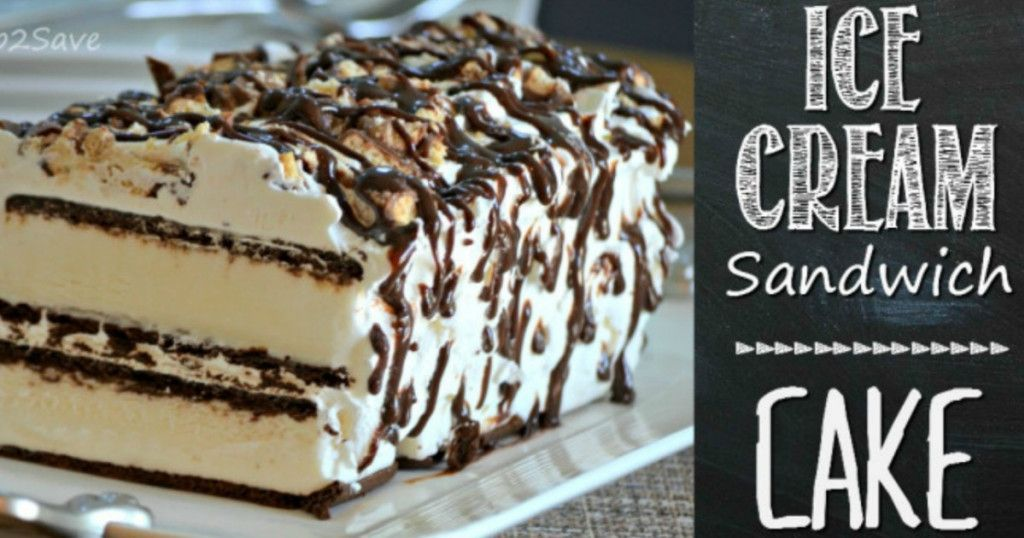 Ice Cream Sandwich Cake #icecreamsandwich Super Easy Ice Cream Sandwich Cake Recipe - Hip2Save #icecreamsandwich