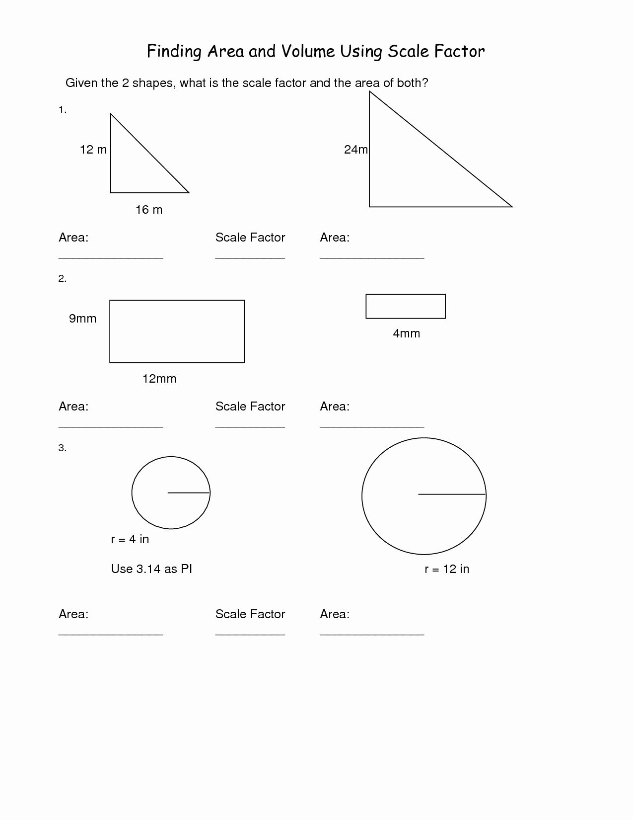 50 Finding Scale Factor Worksheet In