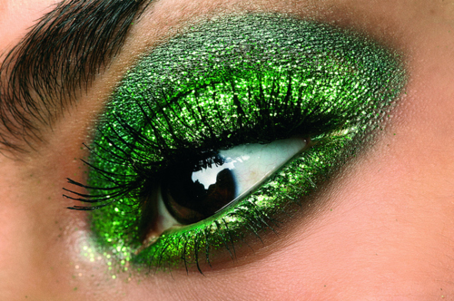 Can I practice this look on you, Mom? I love it!!   St. Patty's Day!