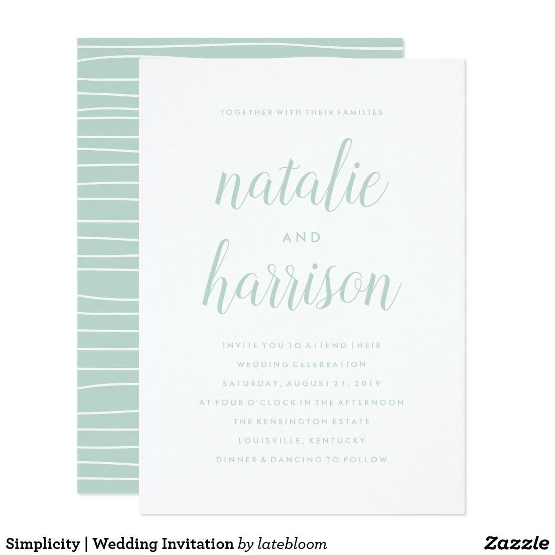 Simplicity | Wedding Invitation | Wedding & Bridal Shower ...