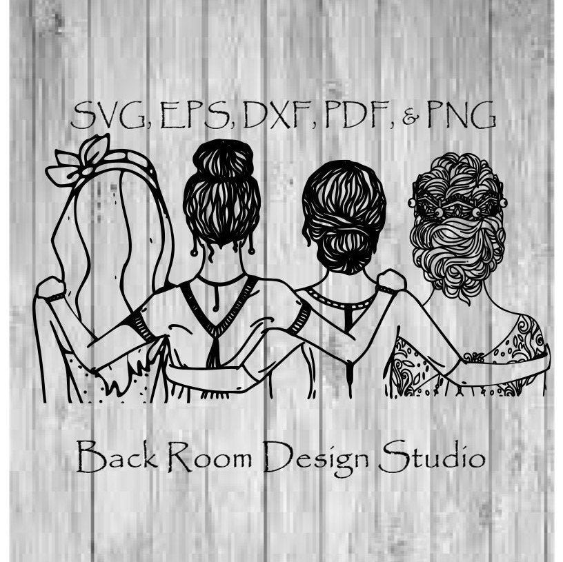 Girlfriends SVG PNG JPG pdf Cut File Instant Download For Tshirt Bags Cell Phone Cases Back to School Wear and Holiday Gifts