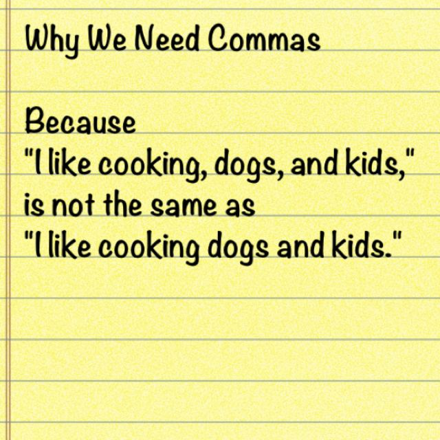 Grammar Funny On Why We Need Commas With Images Grammar Jokes