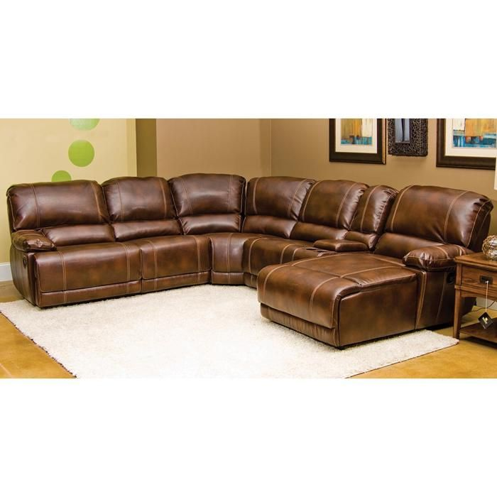 Darius 7-Piece Sectional in Hudson Merlot Bonded Leather | Nebraska Furniture Mart  sc 1 st  Pinterest : manwah sectional - Sectionals, Sofas & Couches
