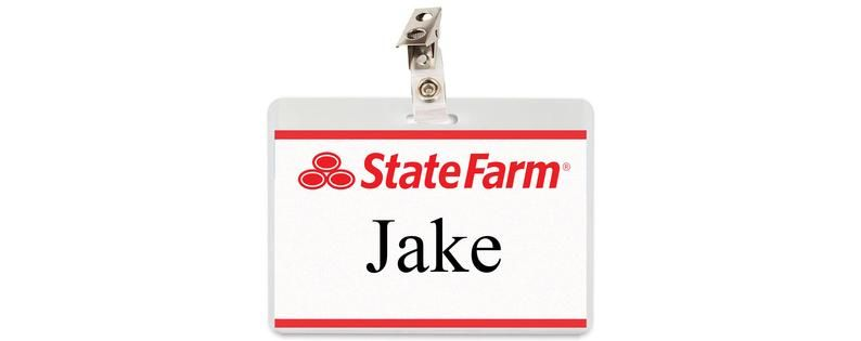 Jake From State Farm Id Badge Name Tag Cosplay Costume Etsy Jake From State Farm Id Badge State Farm