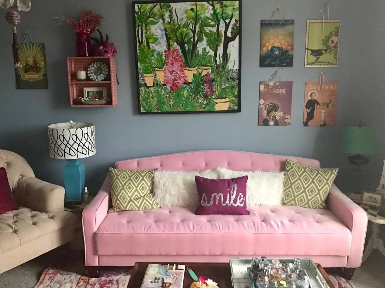 9 By Novogratz Vintage Tufted Sofa Sleeper Ii Multiple Colors Navy Velour Walmart Com Decor Love Seat Tufted Sofa