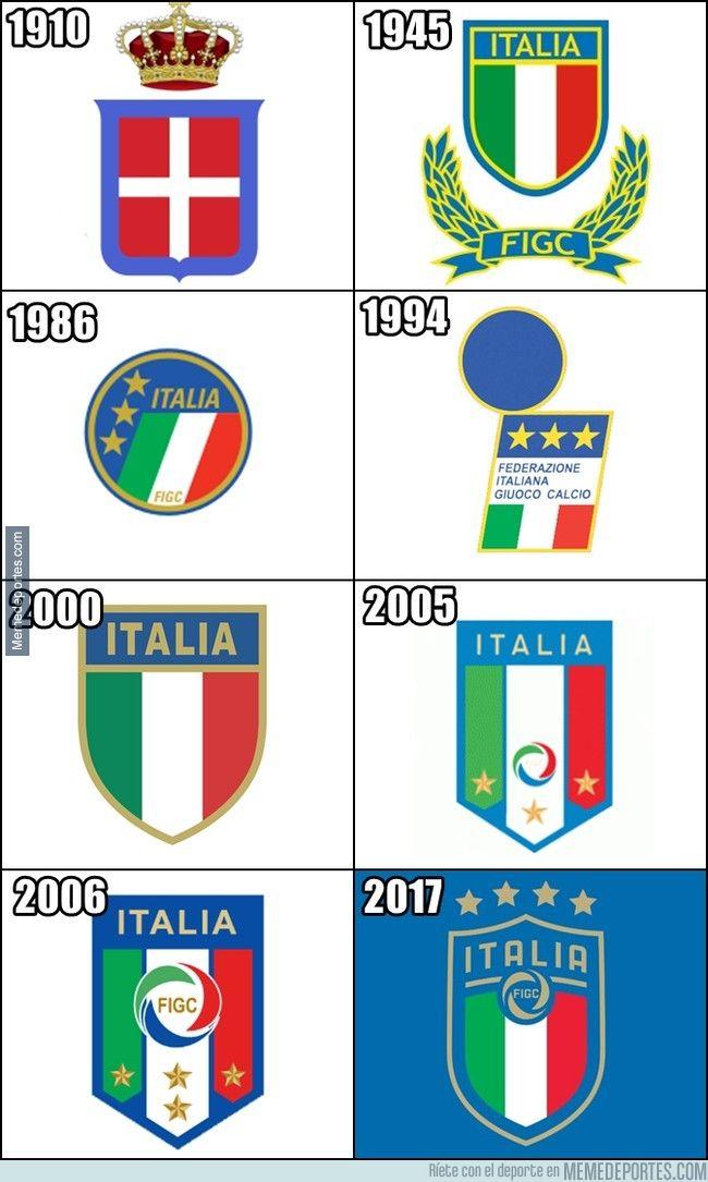 I T A L I A Con Immagini Loghi Sportivi Squadra Di Calcio Foto Di Calcio