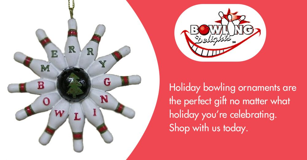 Holiday Bowling Ornaments Are The Perfect Gift No Matter What Holiday You Re Celebrating Shop With Us Today Bowli With Images Bowling Gifts Holiday Party Themes Gifts