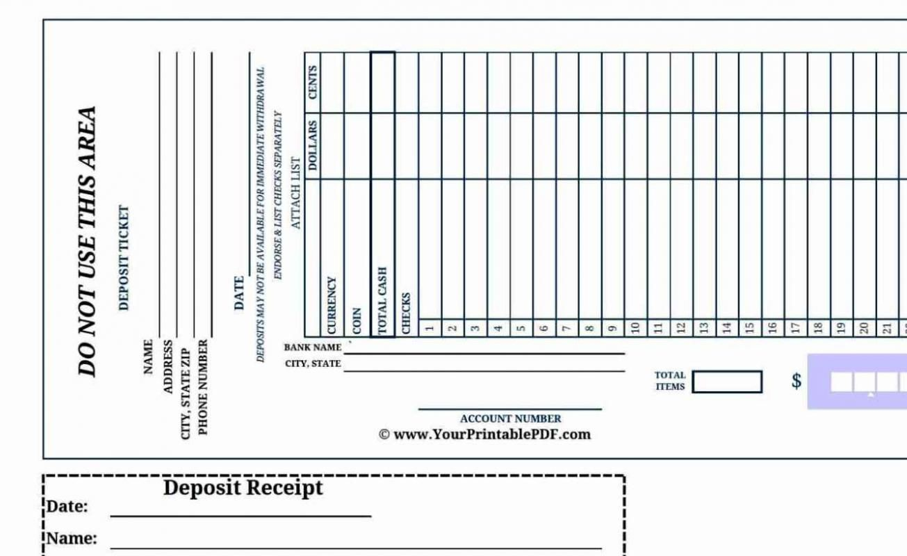 Deposit Slip Templates Check More At Https