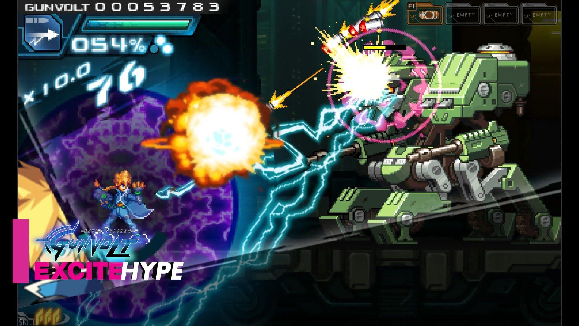 azure striker gunvolt pc nintendo 3ds steam version gameplay azure striker gunvolt nintendo 3ds azure