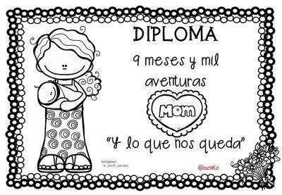 Diplomas Originales Para Colorear Del Día De Las Madres 10 De Mayo