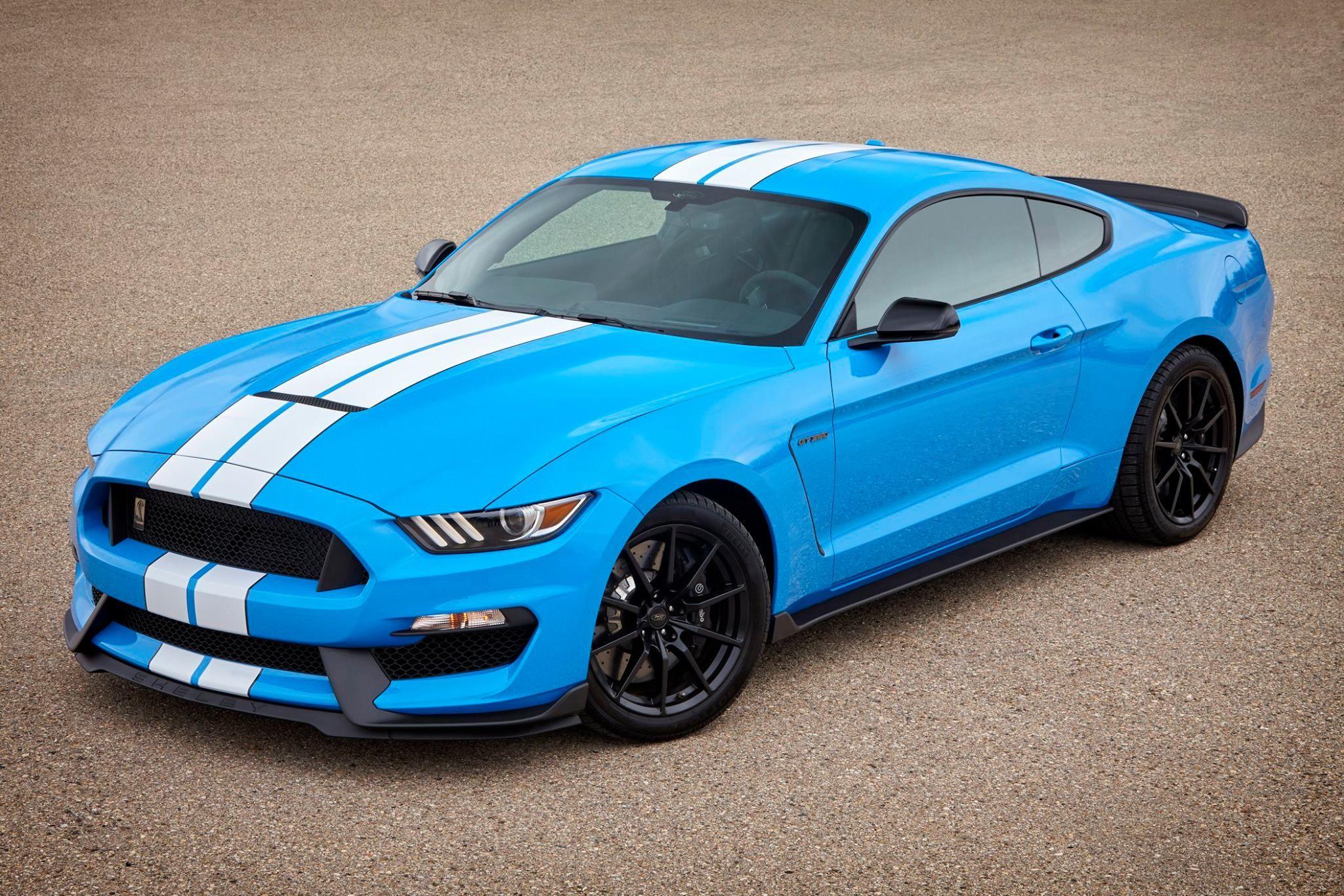 New 2017 shelby gt350r colors lightning blue grabber blue