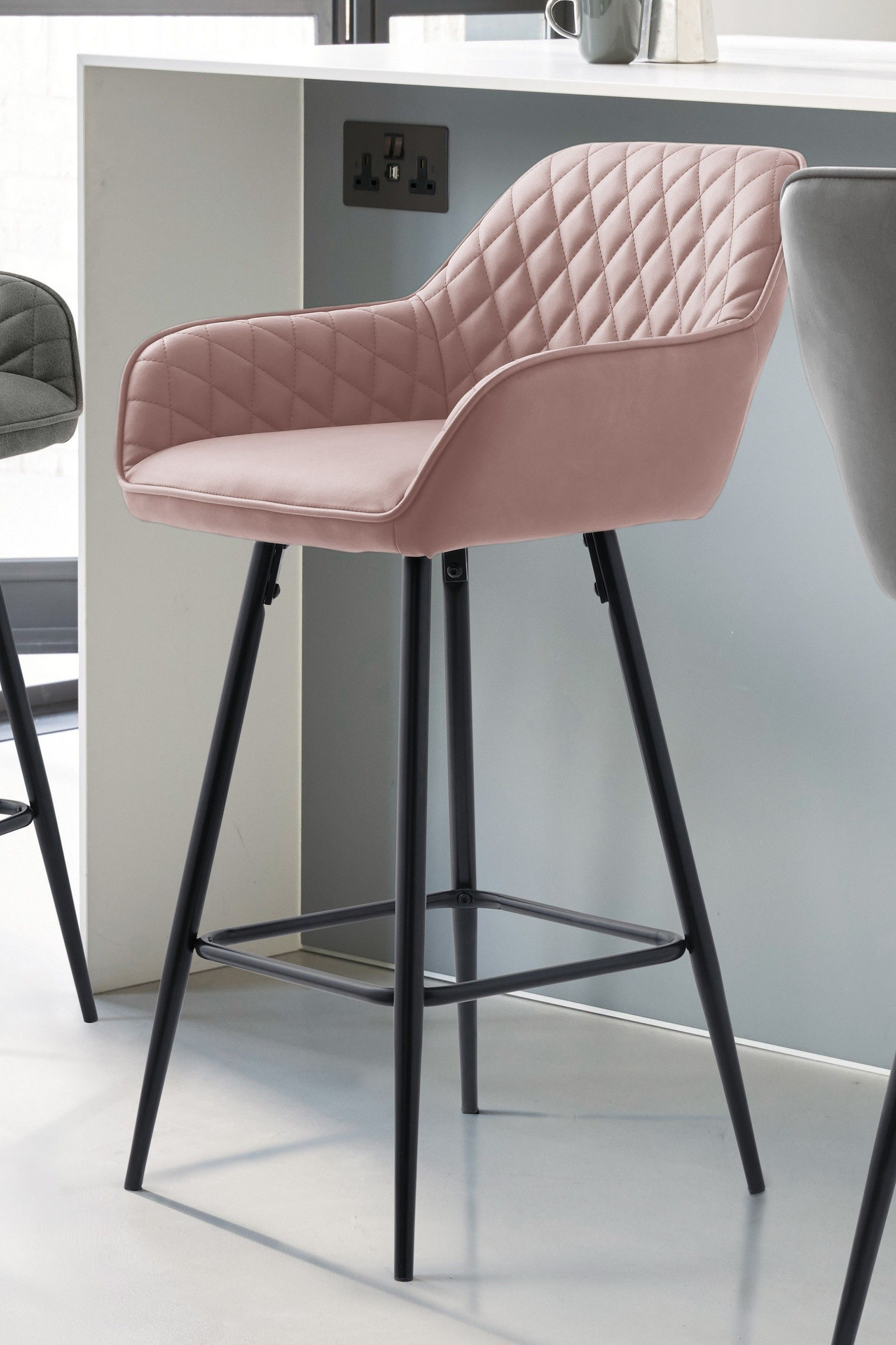Fantastic Next Hamilton Bar Stool Pink Farmhouse In 2019 Wooden Beatyapartments Chair Design Images Beatyapartmentscom