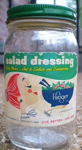 vintage kroger salad dressing jar