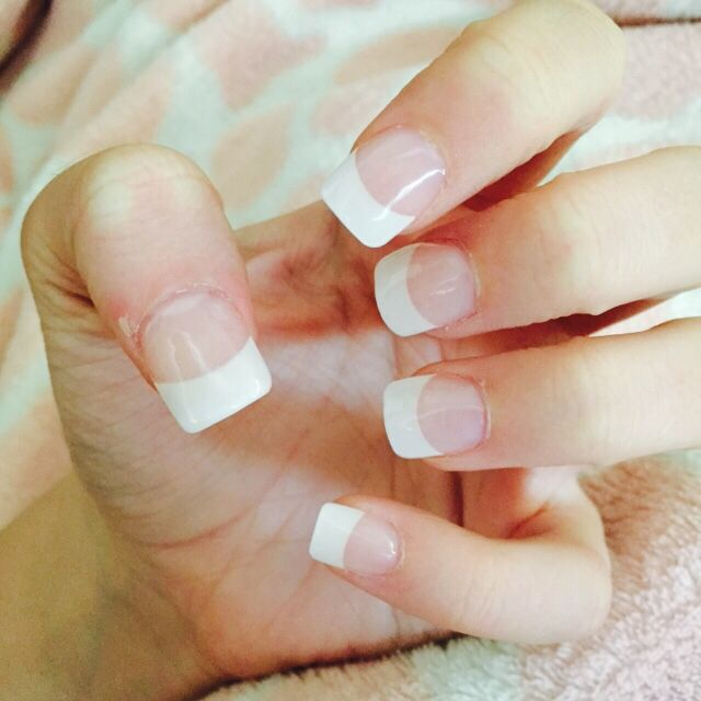 French tip acrylic nails | Nail ideas | Pinterest | Double team and ...