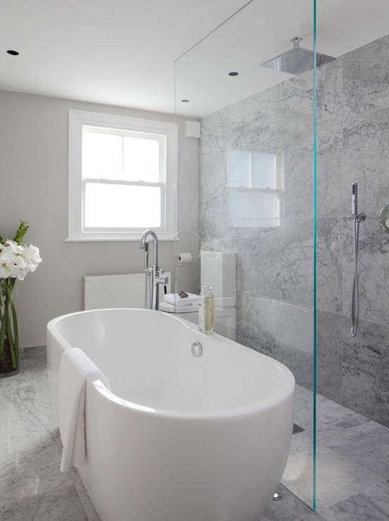 Laura Hammett Bathrooms Marble Bathroom Open Shower Open