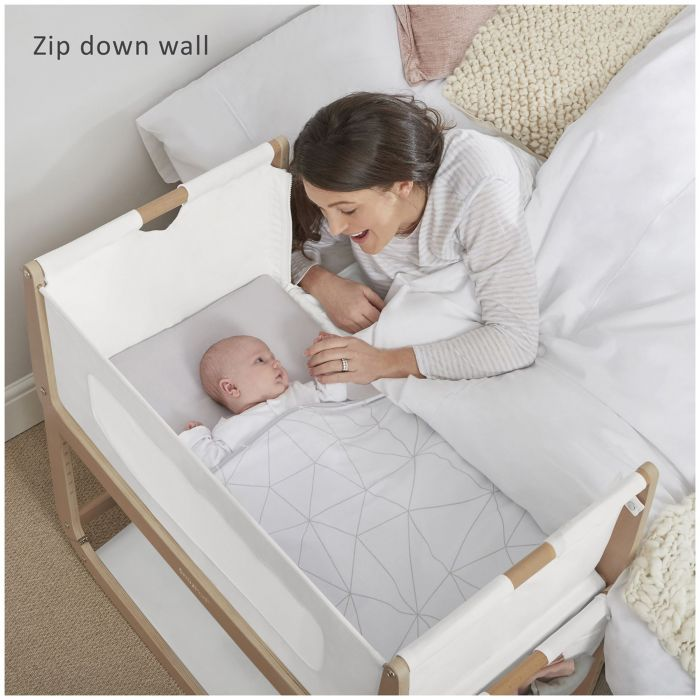 Snuzpod3 Bedside Crib Natural Hello Baby Bedside Crib