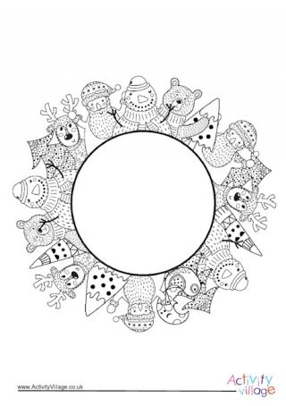 Christmas Border Colouring Page | Christmas coloring pages ...