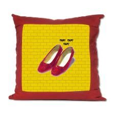 Ellegant Wizard of OZ Ruby Slippers Suede Pillow