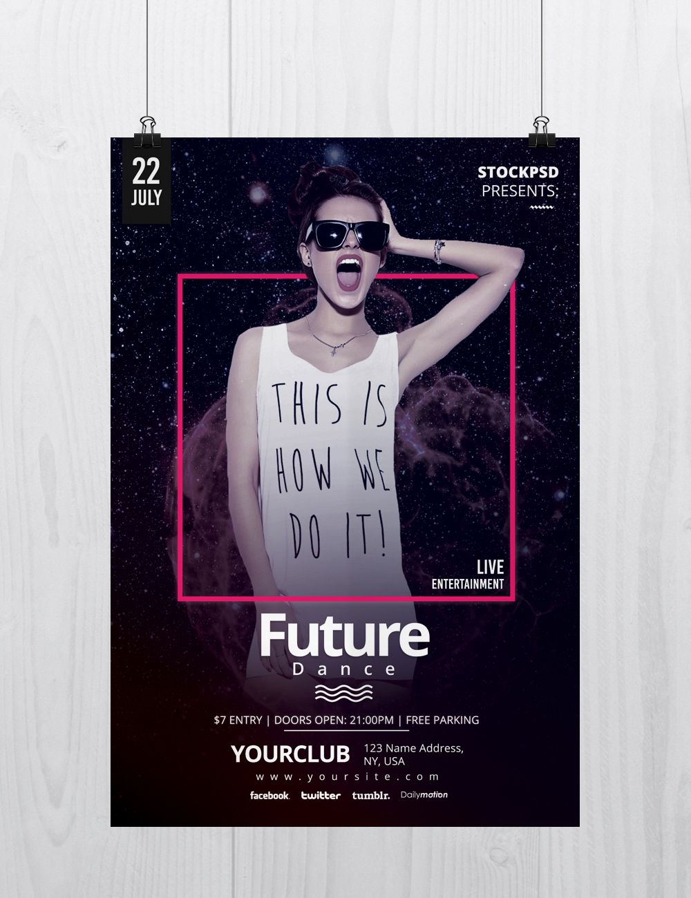 Future Dance is a Free PSD Photoshop Flyer Template to download ...