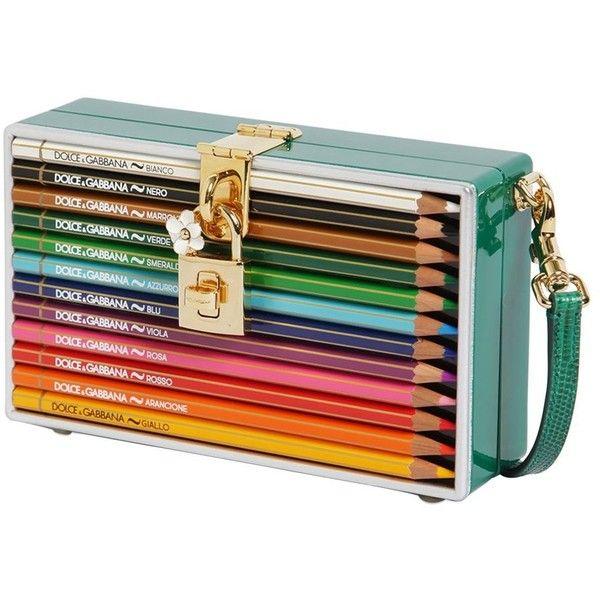 7b849ff39b Dolce   Gabbana Women Dolce Box Clutch W  Colored Pencils ( 3
