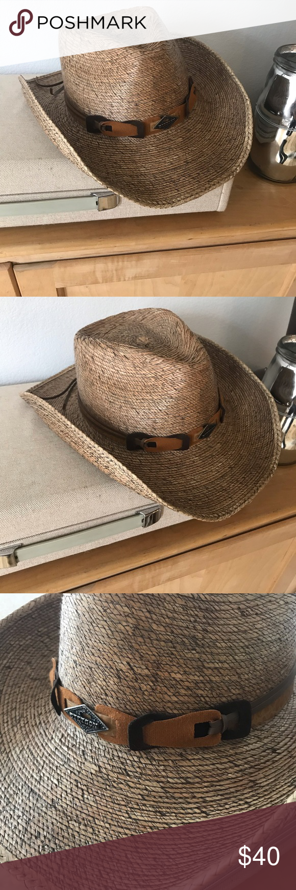 Stetson Cowboy Hat - Sz M Brand new Monterrey Bay unisex palm leaf cowboy  hat by 097f7a2751a