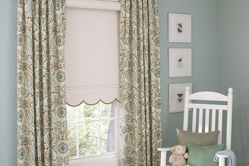 Kid S Window Treatments Genesis Roller Shade With Decorative Wave Bottom Hem And Interior Ma Window Roller Shades Budget Blinds Child Safe Window Treatments