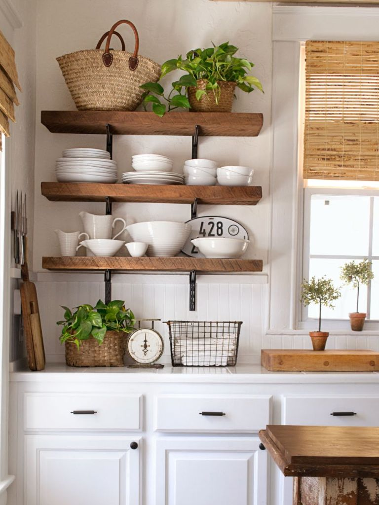 rustic shelving trying to find some at a reasonable price or materials to make some kitchen on farmhouse kitchen open shelves id=80612