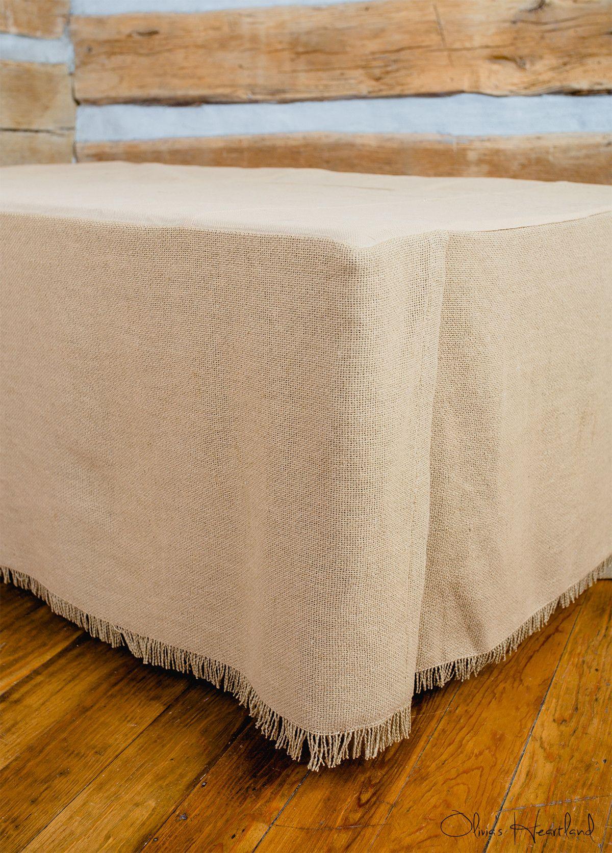 Deluxe Burlap Natural Tan King Bed Skirt Burlap bed