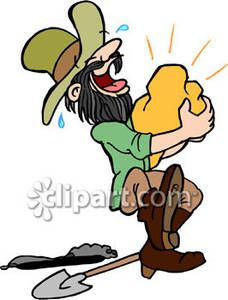 Clip Art Miners | Gold Miner Royalty Free Clipart Picture