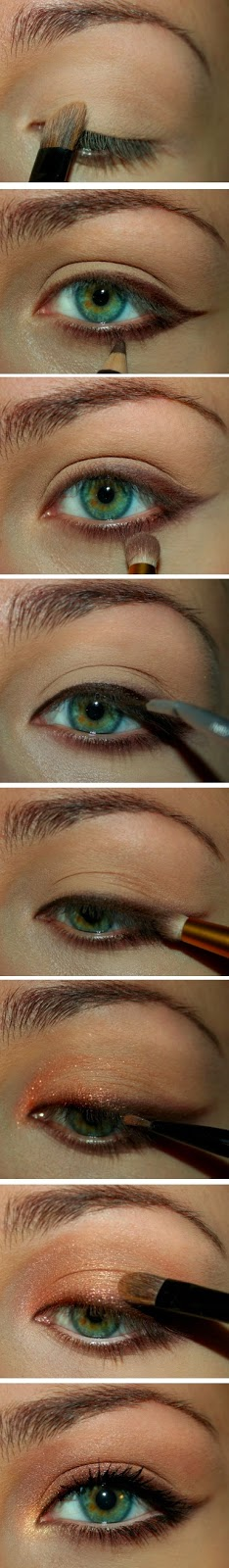 motivational trends: brown and gold cat eye makeup tuts