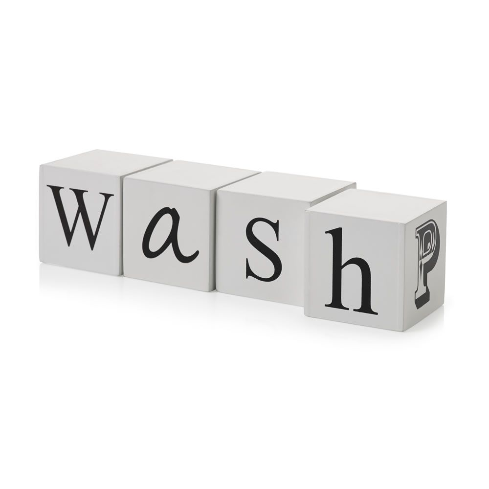 Wilko Multi Word Black White | Wilko, Bathroom ornaments ...