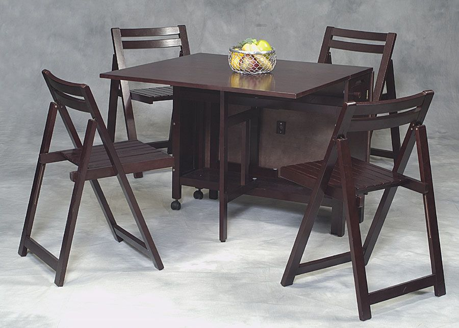 Folding Table With Chairs Attached  Usefulattractive Collapsable Fair Dining Room Table Sets For Small Spaces Inspiration