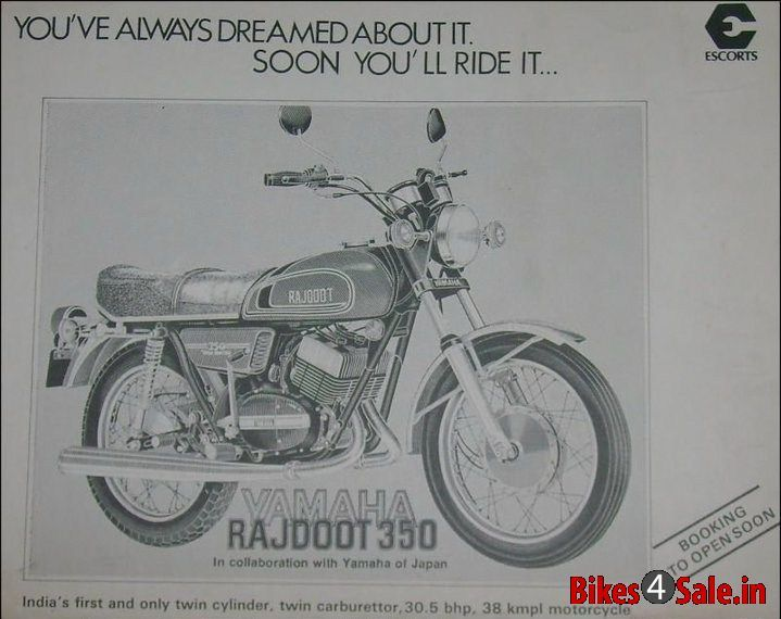 Old Advertisement Of Yamaha Rajdoot 350 With Images Motorcycle