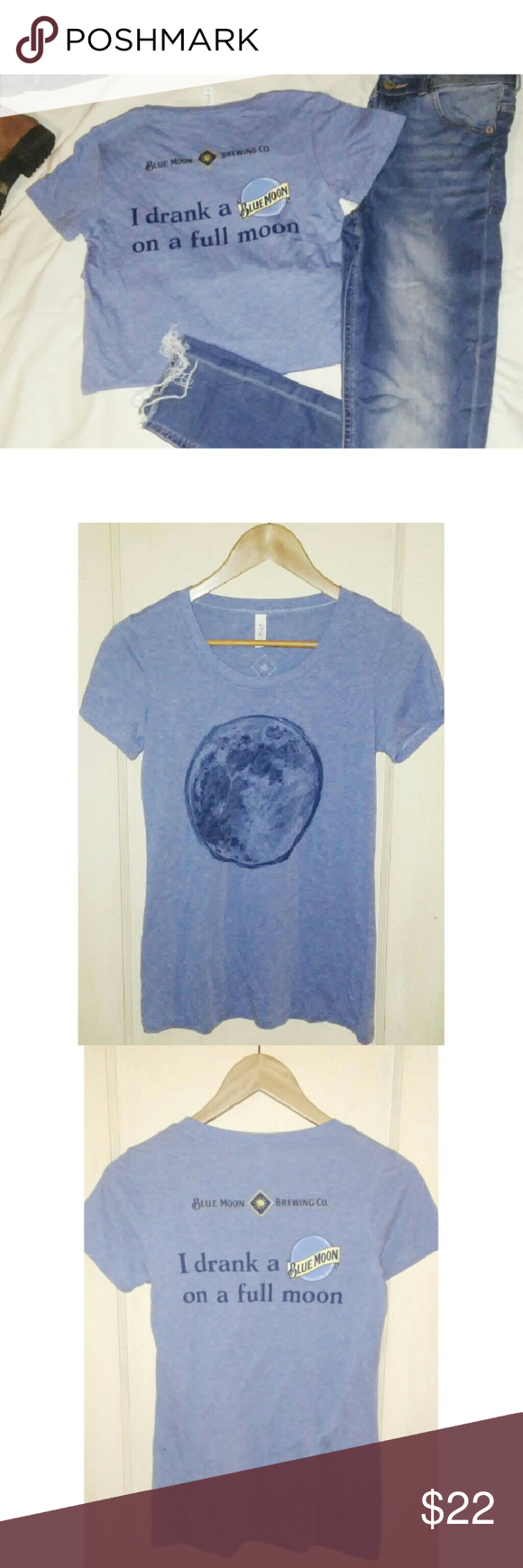 Full Moom Blue Moon Tshirt Blue Moon Blue Colors And Dark Blue