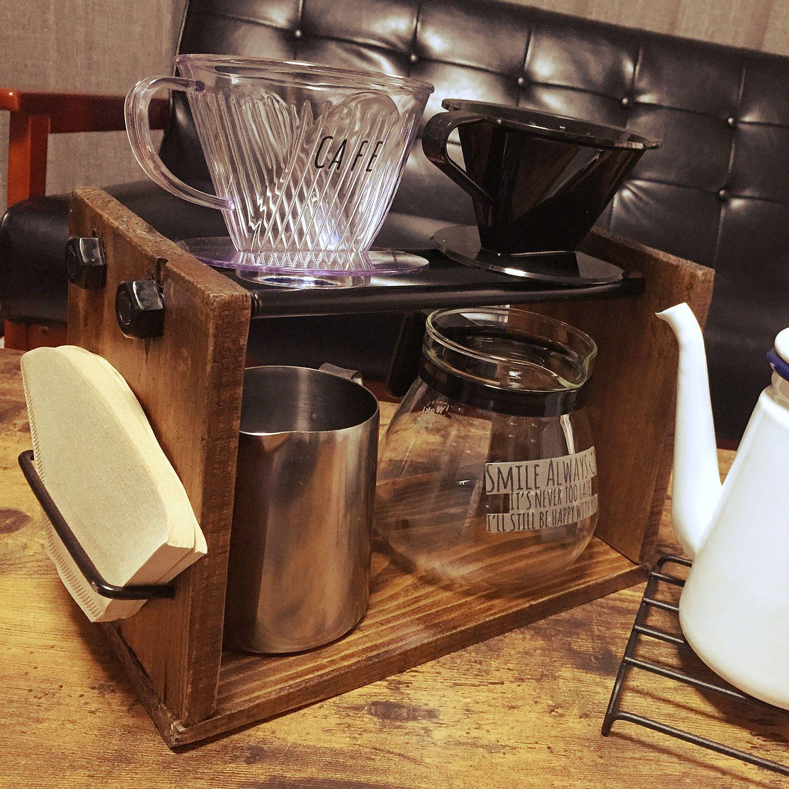 キッチン ドリップコーヒーセット コーヒー ドリップスタンドdiy 初投稿 などのインテリア実例 2017 10 30 11 00 43 Roomclip ルームクリップ ドリップスタンド コーヒーセット コーヒー
