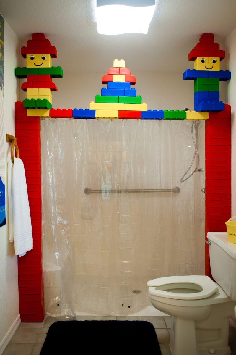 Lego bathroom ideas lego bedroom decor pinterest for Boys bathroom design