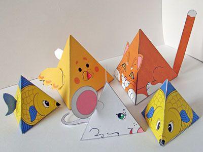 схема игрушки из картона: 32 тыс изображений найдено в Яндекс.Картинках