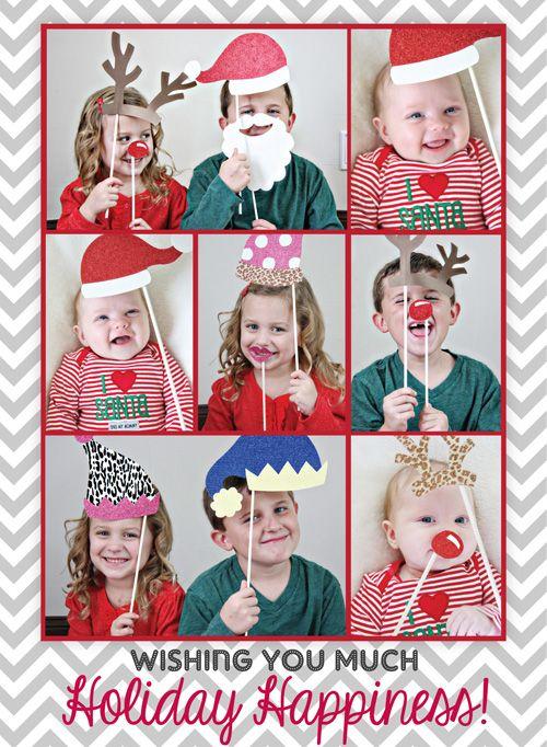 Diy Santa S Photobooth Christmas Cards Christmas Photo Booth Preschool Christmas Christmas Cards
