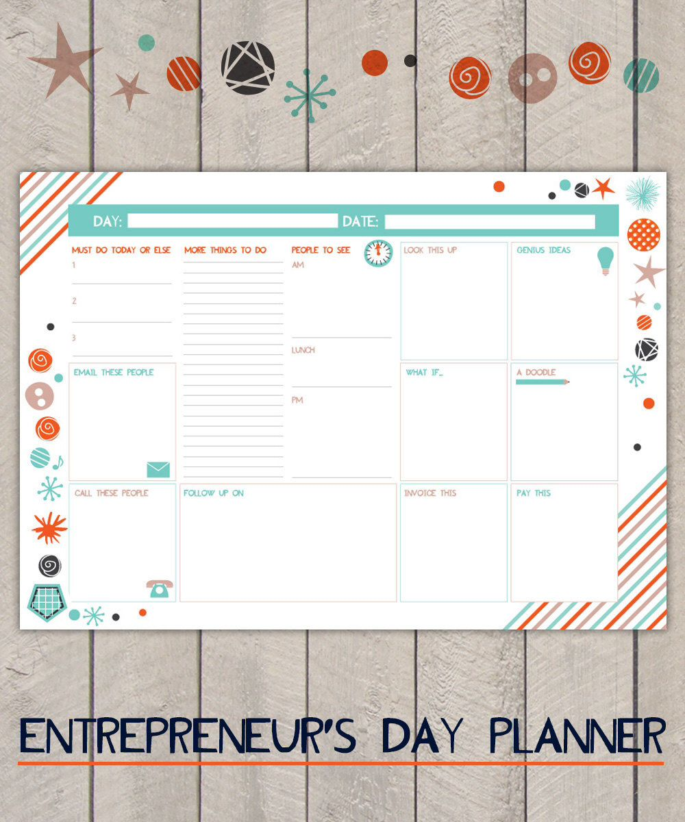 Business Planner, Work Day Planner, Business Organiser