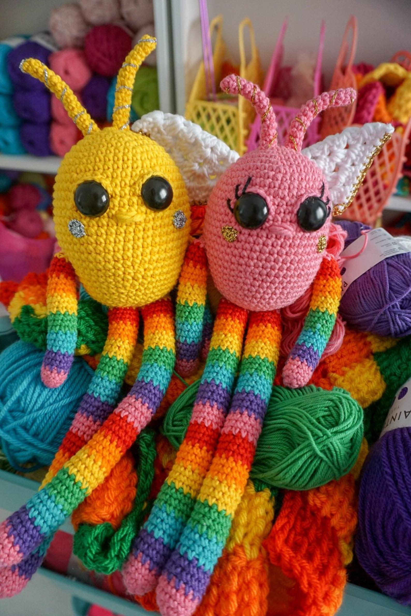 Amigurumi Pattern Rainbow Snuggle Bugs Amigurumi