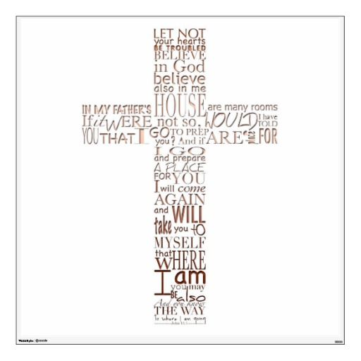 christian cross bible verses copper letters wall decals