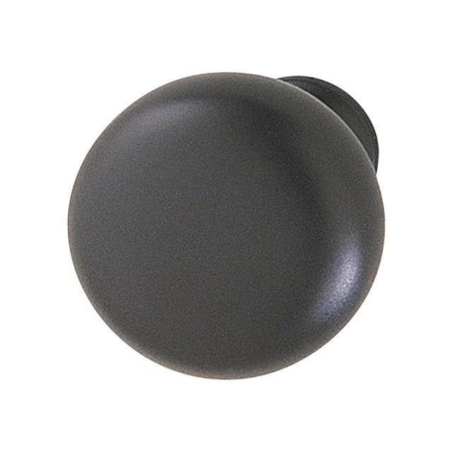 Knob zinc matt black