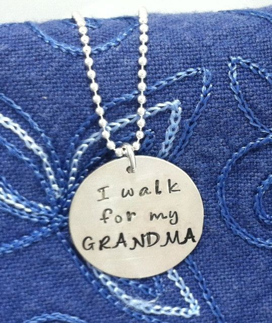 Custom Hand Stamped Cancer Awareness / Relay for Life Pendant