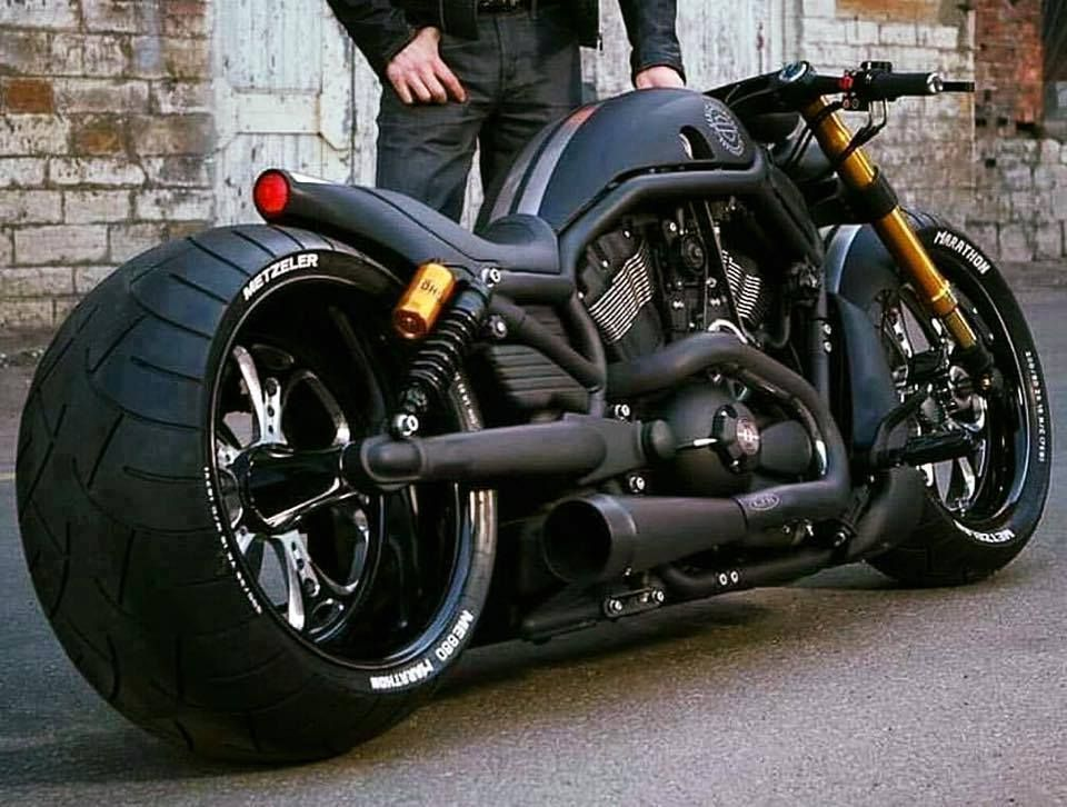 Harley Davidson V Rod Hd Flat Black Bobber Motorcycle Motorcycle Night Rod Special