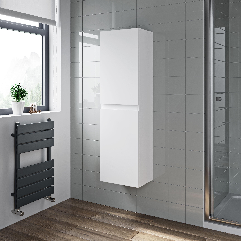 Artis White Gloss Wall Hung Tall Bathroom Cabinet 350 X 250mm Bathroom Tall Cabinet Ideal Bathrooms Tall Cabinet Storage [ 3000 x 3000 Pixel ]