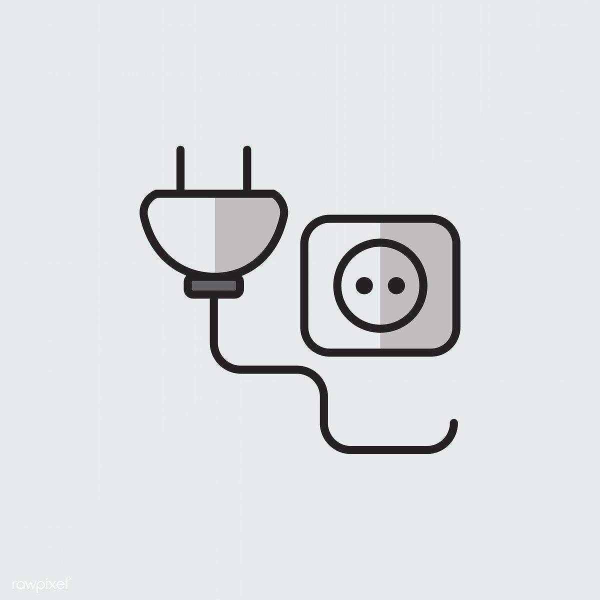 Illustration Of Power Plug And Socket