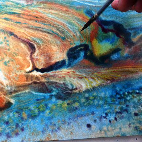 Peindre Une Aquarelle Abstraite Technique Humide Sur Humide L