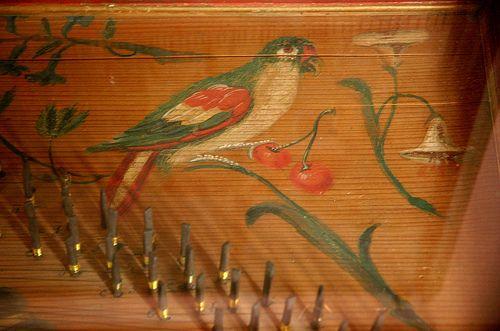Hiller d sj lland frederiksborg castle clavichord detail of soundboard painting strumenti - Mobili danimarca ...